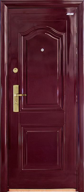 Китайские металлические входные двери Абвер (Abwehr) 3-32 автоэмаль вишня