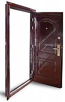 Китайские металлические входные двери Абвер (Abwehr) 3-32 автоэмаль вишня, фото 2