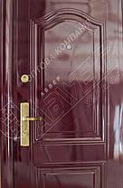 Китайские металлические входные двери Абвер (Abwehr) 3-32 автоэмаль вишня, фото 3