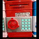 """Копилка электронная  """"Сейф банкомат"""" с кодовым замком и купюроприемником, фото 2"""