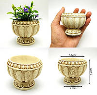 ★кашпо чаша в греческом стиле под роспись, декупаж, подсвечник, суккулент, мох, растение★