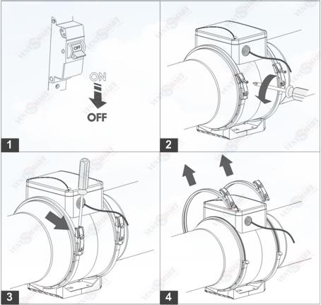 Демонтаж центрального блока вентилятора ВЕНТС ТТ ПРО 250 для периодического его обслуживания