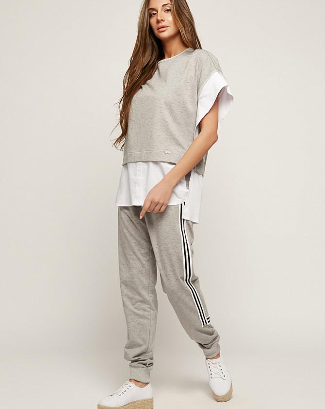 Брючный костюм женский street style серый, код 2163