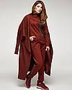 Женский теплый терракотовый костюм с принтоваными лампасами, код 2354, фото 4