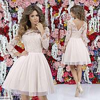 Коктейльное нарядное платье беби-долл арт 7284
