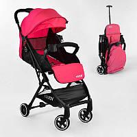 Коляска прогулочная детская С - 410 Joy 1 цвет Розовый, футкавер, дождевик - 183396