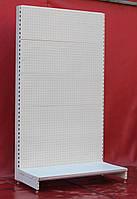 Торговые стеллажи перфорированные «Модерн» 230х132 см., (Украина), кремово-белый, Б/у, фото 1