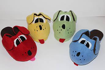Детские тапочки желтые игрушки Собака Размер 40, 41