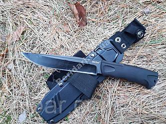 Тактический нож толстый сквозной клинок ,Рукоять резинопластик   cpa