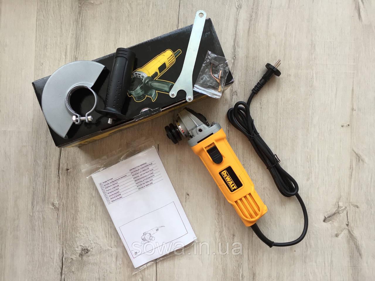 ✔️ Болгарка, ушм DeWALT - DWE4157 ( 125 мм, 900 Вт )  + ПОДАРОК