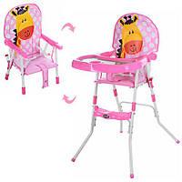 Cтульчик для кормления розовый жираф Bambi GL 217С-909