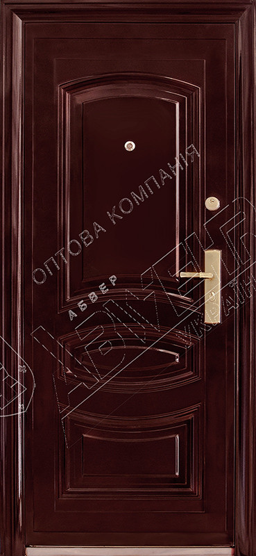 Китайские металлические входные двери Абвер Карина 25-32 автоэмаль вишня