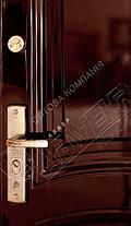 Китайские металлические входные двери Абвер Карина 25-32 автоэмаль вишня, фото 3