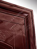 Китайские металлические входные двери Абвер Карина 25-32 автоэмаль вишня, фото 2