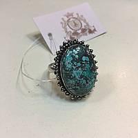 Бирюза кольцо с бирюзой 19,5-20 размер натуральная бирюза в серебре Индия