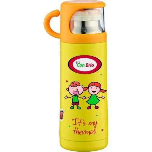 Термос детский вакуумный Con Brio CB343, желтый