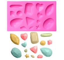 """Молд силиконовый """"Бриллианты"""" - размер молда 10*6,5см"""