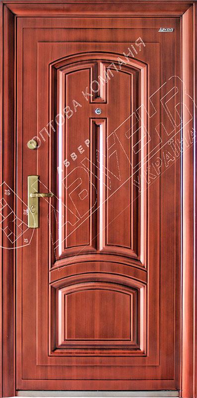 Китайские стальные входные двери Абвер (Abwehr)  11-32 автоэмаль медь
