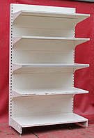 Торговые пристенные (односторонние) стеллажи «Модерн» 230х132 см., все полки по 60 см., Б/у, фото 1