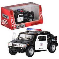 Машина Kinsmart металлич. инерцион. в кор. 13см. 1:40 Hummer H2 Police