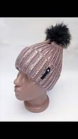 Теплая шапка с модным напилением