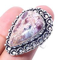 Чароит кольцо с натуральным чароитом в серебре 19-19.5  размер Индия