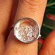 Серебряное кольцо Шопард с двигающимися фианитами - Брендовое серебряное кольцо, фото 3