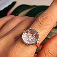 Серебряное кольцо Шопард с двигающимися фианитами - Брендовое серебряное кольцо, фото 5