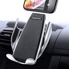 Автотримач Wireless S5 Колір Чорно-Сталевий