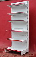 Торговые пристенные (односторонние) стеллажи «Eden» 240х60 см., на 6 полок, Б/у, фото 1