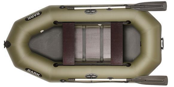 Двухместная гребная надувная лодка Барк ( Bark ) B 260D, передвижные сидения и реечная слань.