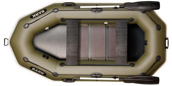 Двухместная гребная надувная лодка Барк ( Bark) B 260PD, со сдвижными сидениями и привальным брусом