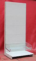 Торговые стеллажи перфорированные «Маго» 230х100 см., (Польша), с корзиной, Б/у