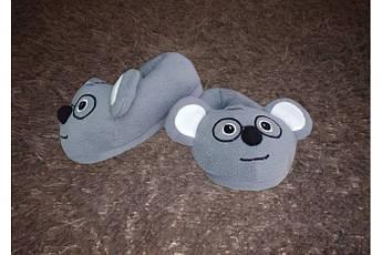 Тапочки игрушки детские Умный Мышонок Коала Размер 25 - 45 Символ 2020 года