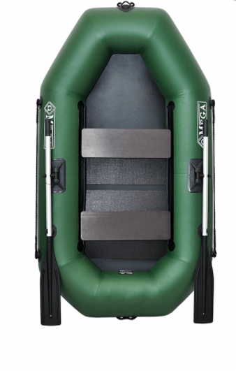 Двомісна човен гребний надувна Омега ( Omega) 220 LS(PS), поворотні кочети, слань