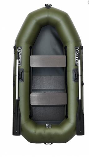 Двухместная надувная гребная лодка Омега ( Omega) 245LS (PS) с реечной сланью и регулируемыми сиденьями