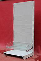 Торговые стеллажи перфорированные «Маго» 230х100 см., (Польша), с корзиной 50 см., Б/у, фото 1