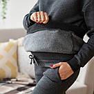 Худи для беременных с карманами хлопковый антрацит Lullababe Vancouver (S-4XL), фото 7
