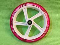 Колесо для самоката Amigosport 200 мм светящееся с подшипниками ABEC-7 розовое, фото 1