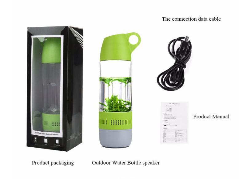 Спортивная  бутылка  с беспроводной Bluetooth колонкой 2 в 1