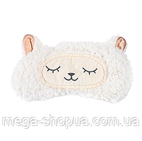 "Мягкая плюшевая маска для сна и отдыха ""Lamb"". Повязка для сна и релакса. Маска для сну"