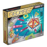 Магнитный конструктор Geomag Color GLITTER 44 детали | Геомаг