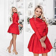 Платье женское с фатиновым подъюбником ТК/-1132 - Красный, фото 1