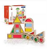 Радужные блоки, маленькая радуга Block Play, 20 шт., с 8 месяцев, фото 4