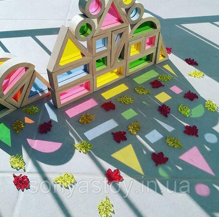 Набор уменьшенных блоков Block Play Маленькая радуга, 20 шт., 2+, фото 1