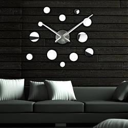 Настенные часы 3D Round 2018 Silver