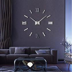 Настенные часы 3D РИМСКИЕ/ПОЛОСЫ 2018 Silver