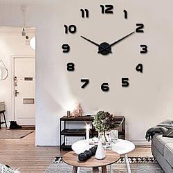 Настенные часы 3D Арабские Цифры Black