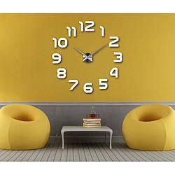 Настенные часы 3D Арабские Цифры Silver