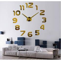 Настенные часы 3D Арабские Цифры Gold